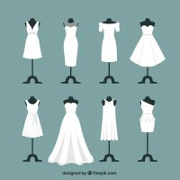 Wedding dresses Vector | Premium Download