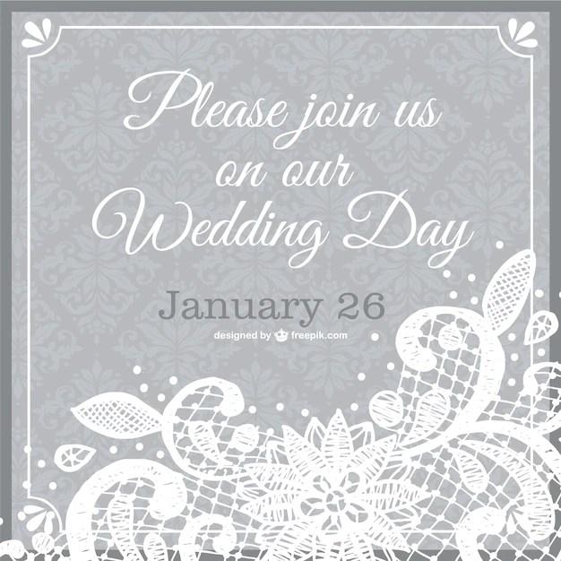 Template Of Wedding Invitation Vector