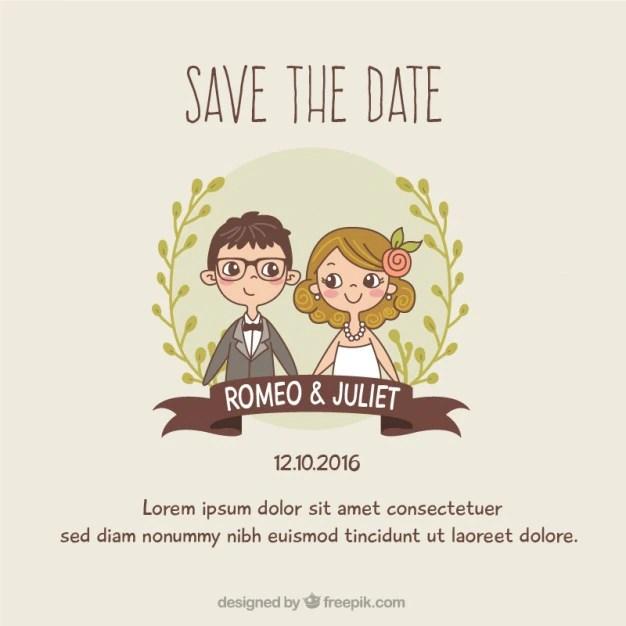 Wedding Invitations Postcard Design Graphic Vector