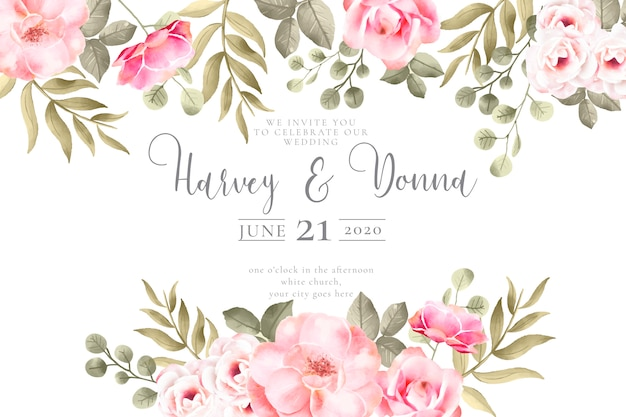 wedding invitation with lovely