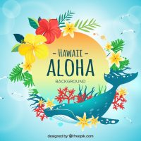 Whale aloha background Vector | Free Download