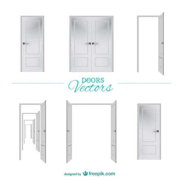 white doors vector free