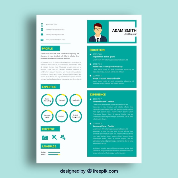 Stand far above the stacks and stacks of flat, boring resumes on any hiring manager's desk with a prezi resume template. Premium Vector White And Green Resume Template