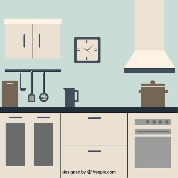 White Kitchen Vector