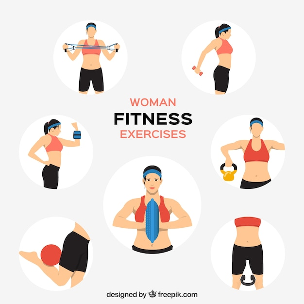 Crossfit Girl Wallpaper Vertical Woman Fitness Exercises Vector Free Download