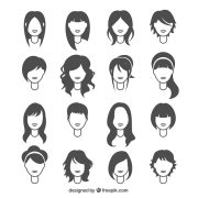 woman hairstyles vector free