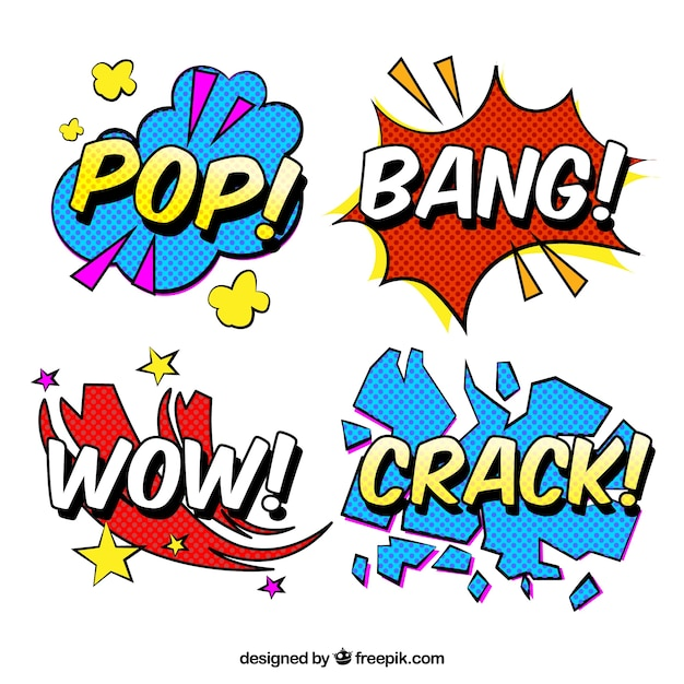 word stickers with pop