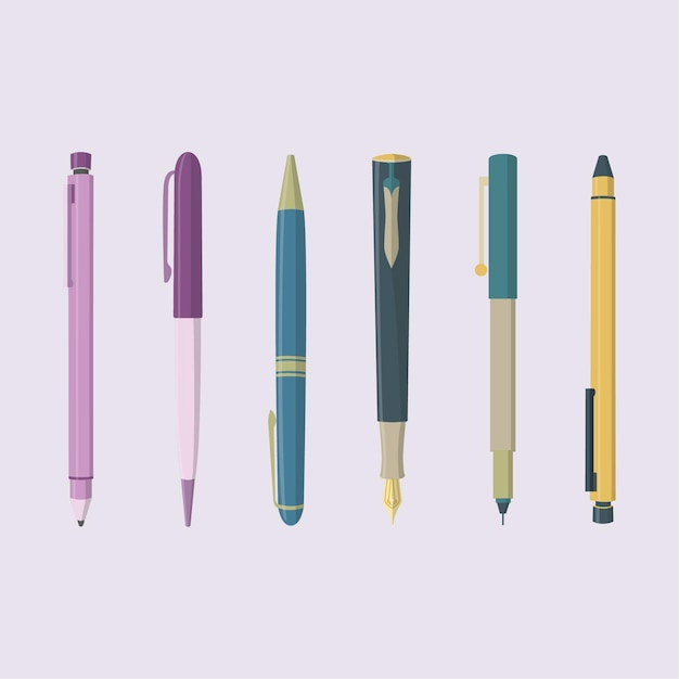 Writing Instruments Premium Vector