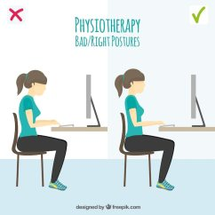 Posture Chair Demo Dxracer Pillow Wrong And Right In Front Of The Computer Vector Free Download 24
