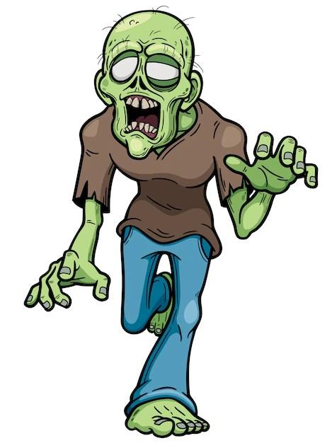 Zombie Cartoon Images : zombie, cartoon, images, Premium, Vector, Zombie, Cartoon
