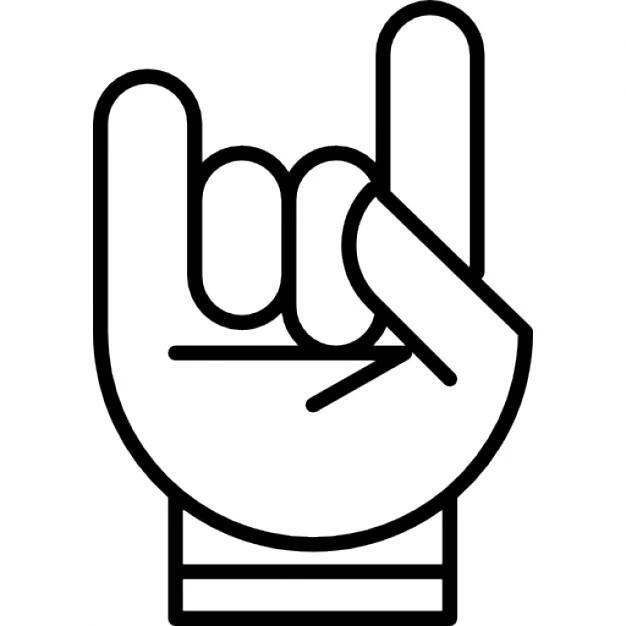 Hand mit weißen Konturlinien bilden einen Stein auf das