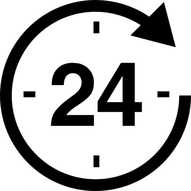 24 Heures Autour De Lhorloge Tlcharger Icons Gratuitement