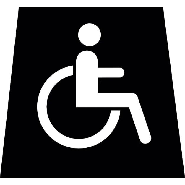 Persona en silla de ruedas signo  Descargar Iconos gratis