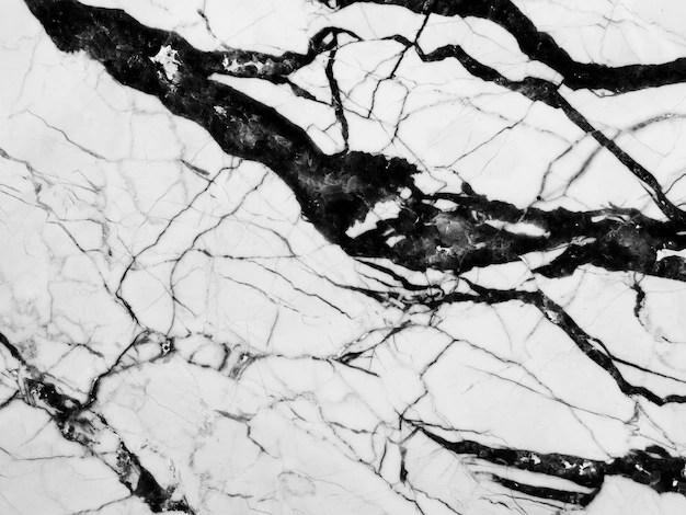 Fond Texture Noir Et Blanc En Marbre Photo Premium