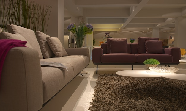 interieur maison mobilier salon moderne