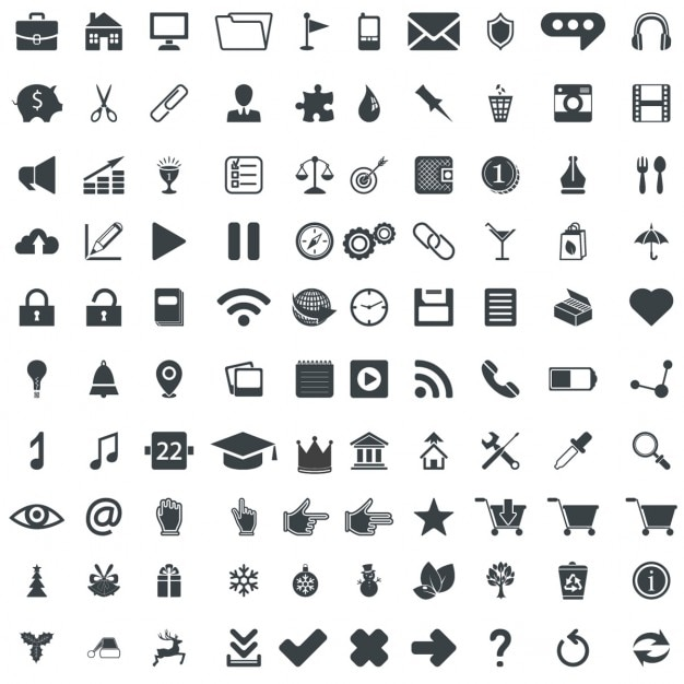 Black And White Web Icon Sets