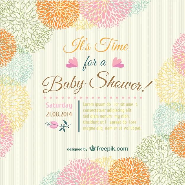 baby shower floral carte d invitation