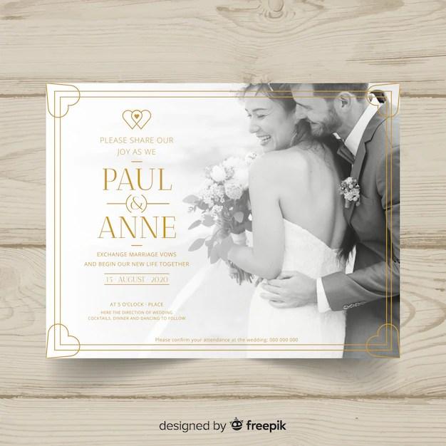 carte d invitation de mariage avec