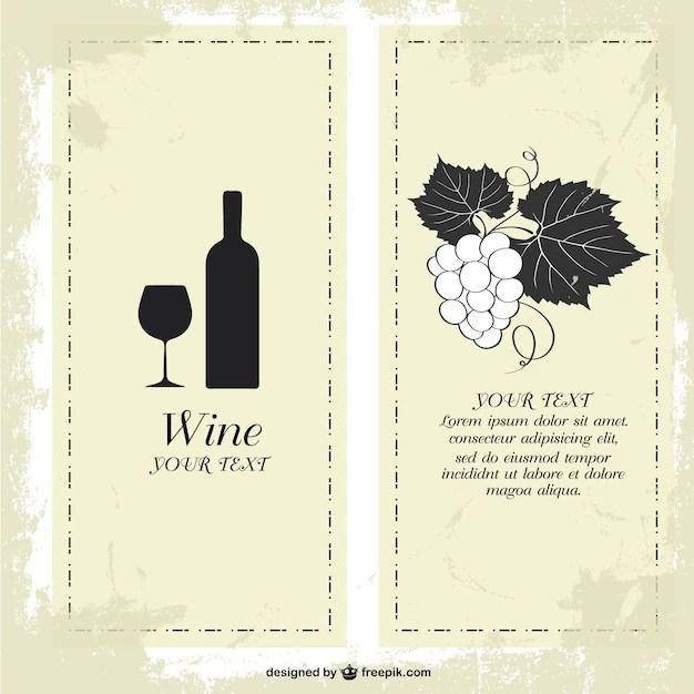 Weinkarte Vorlage Kostenlos