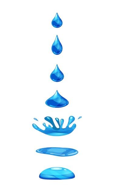 Dessin Goutte D'eau Qui Tombe : dessin, goutte, d'eau, tombe, Goutte, Liquide,, L'eau, Tombe, éclaboussures, Couleur, Bleue., Phases,, Images,, L'animation, Vecteur, Premium