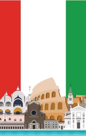 Italie design fond Vecteur gratuit