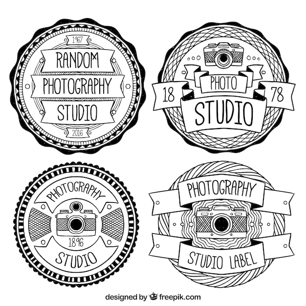 logos vintage en noir et blanc pour les