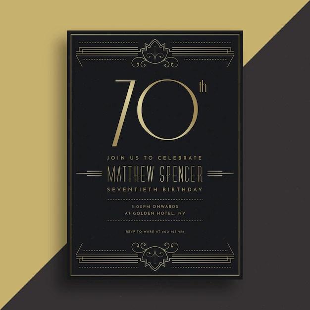 modele de carte d anniversaire elegant
