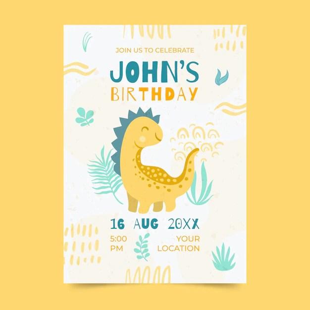 invitation d anniversaire dinosaure