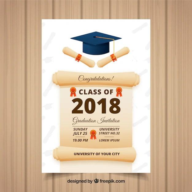 modele d invitation de graduation