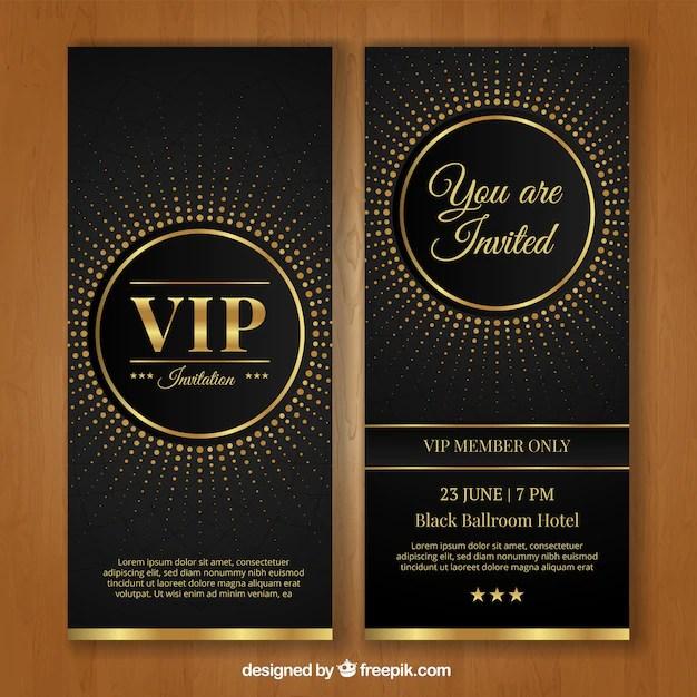 modele d invitation vip vecteur gratuite