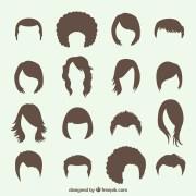 perruques vecteurs