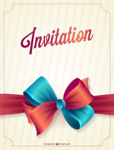 vecteur d invitation gratuite vecteur