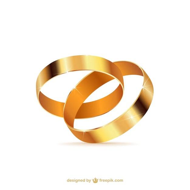 Anillos de boda de oro  Descargar Vectores gratis