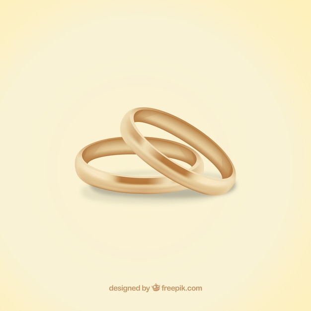 Anillos de boda hechos de oro  Descargar Vectores gratis