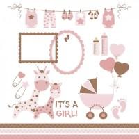 Baby shower de nia | Descargar Vectores gratis