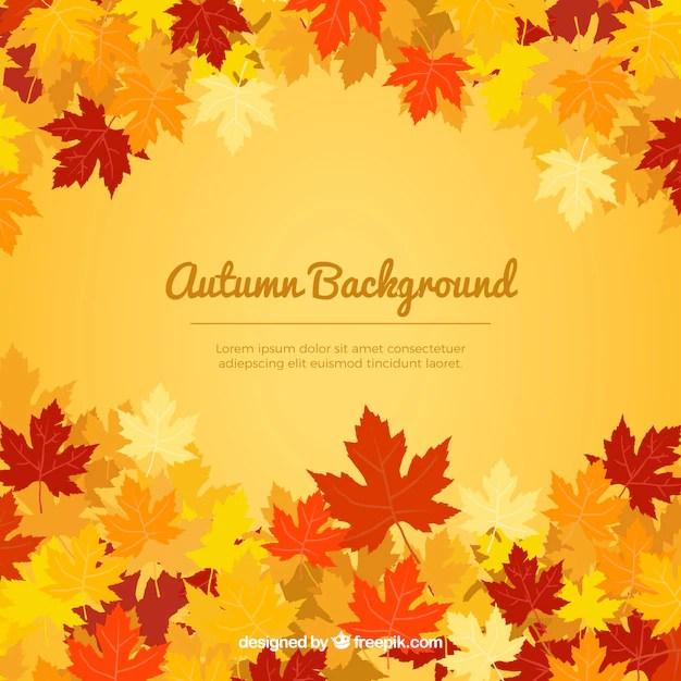 Fall Leaves Wallpaper Powerpoint Background C 225 Lido Fondo Oto 241 Al Descargar Vectores Gratis