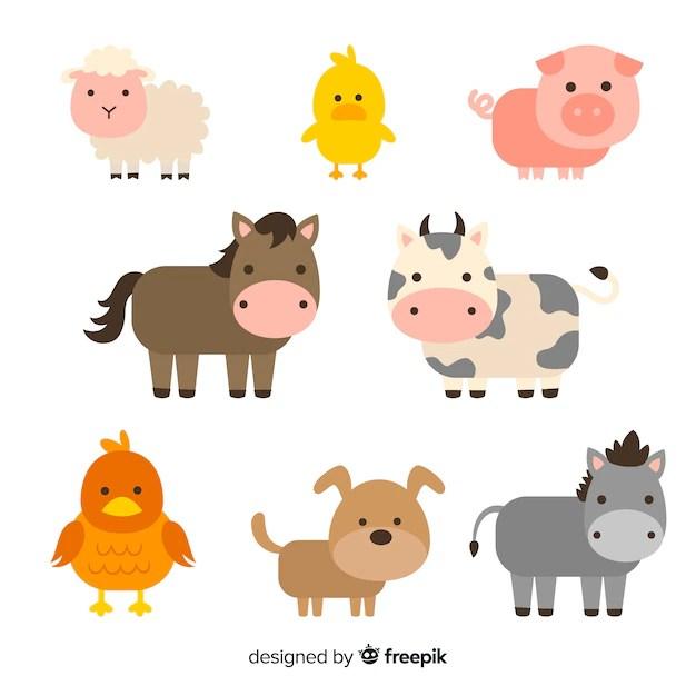 colección animales de granja
