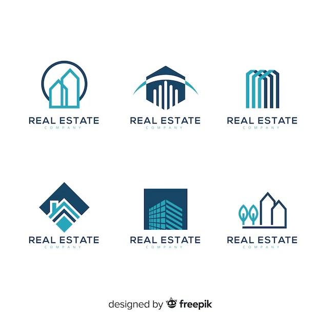 Colección moderna de logos de inmobiliaria | Vector Gratis