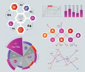 Diagramas creativos definidos | Descargar Vectores gratis