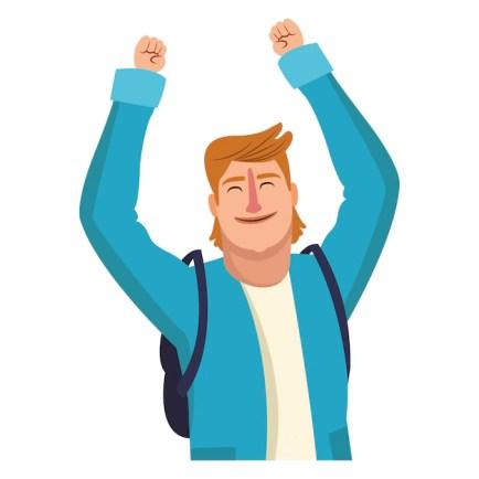 Vector Premium   Dibujos animados hombre feliz