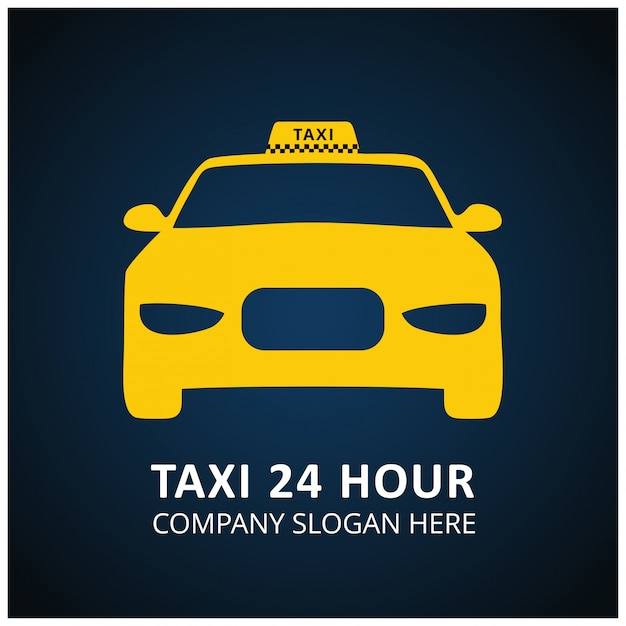 Diseno De Logotipo De Taxi Vector Gratuito