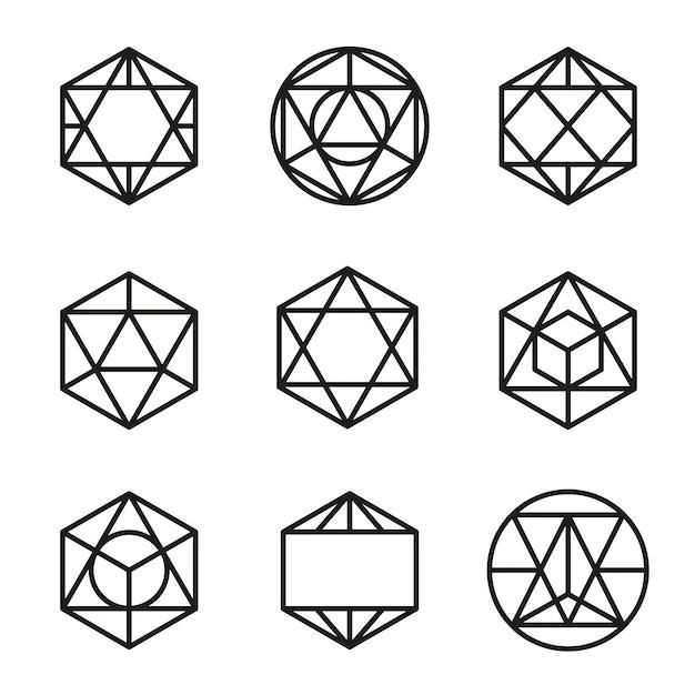 Establecer vector de formas geométricas abstractas