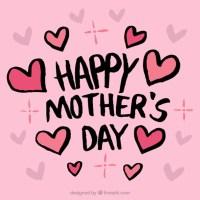 Fondo rosa con corazones para el da de la madre ...