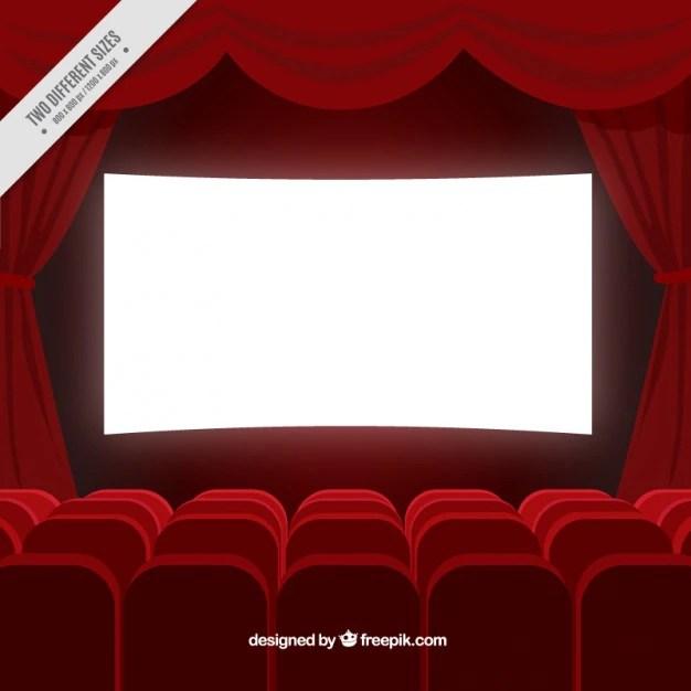Fondo de sala de cine en color rojo  Descargar Vectores