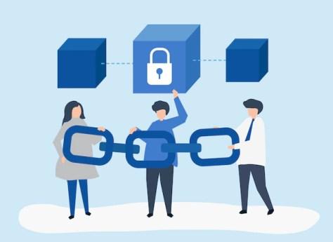 Indat - blockchain - Vector de fondo creado por rawpixel.com - www.freepik.es