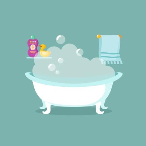 """Resultat d'imatges per a """"baño con espuma para niños"""""""