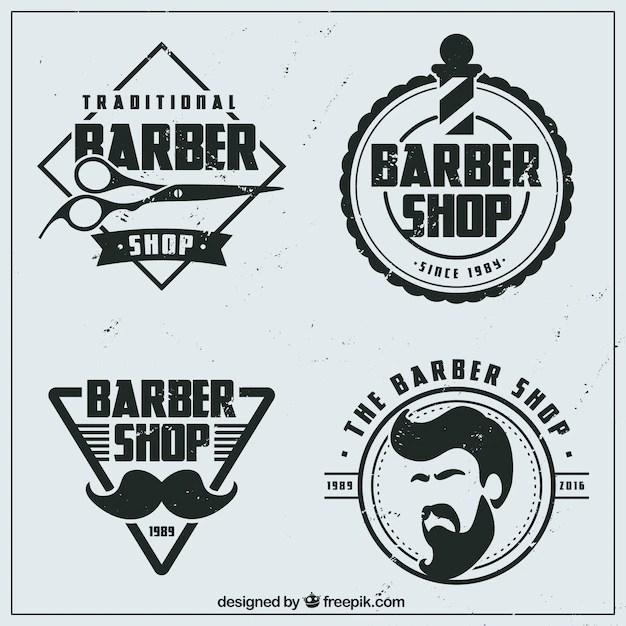 logos de barbería planos
