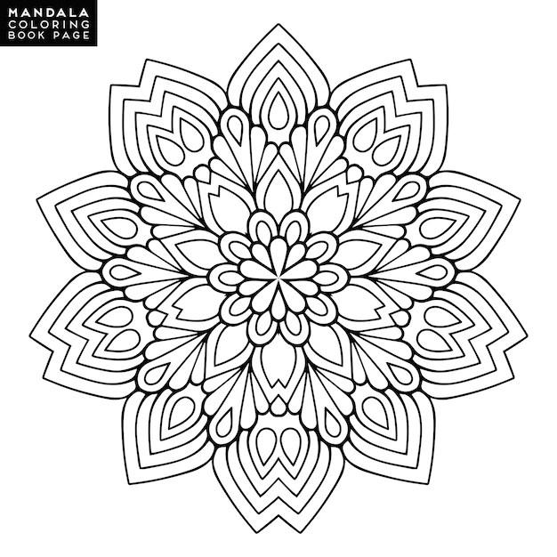 Mandala del esquema para el libro que colorea. ornamento