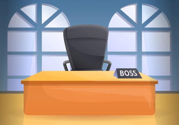 Oficina escritorio silla concepto ilustración dibujos animados estilo   Vector Premium
