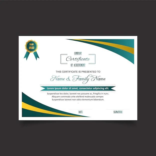 Plantilla De Certificado De Reconocimiento En Blanco